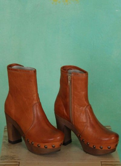 Grünbein Schuhe Isabell  whiskey orange braun highheel boots orange brown laarzen hoge hakken oranje bruin