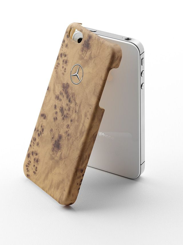 Sleeve for iPhone® 5 brown, plastic Part number:     B66952504 Colour:     brown Material information:     plastic  The sleeve is suitable for the iPhone® 5 and 5S. It is made of robust plastic. The sleeve features a fashionable wood look. - colour: brown - plastic - printed logo print on back