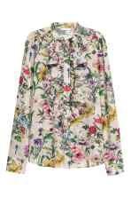 Plumeti blouse - Beige/Floral - Ladies | H&M GB 2