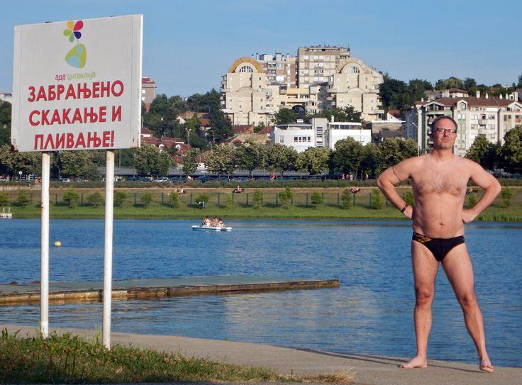 Swimmer, Belgrade. By Richard Farland.