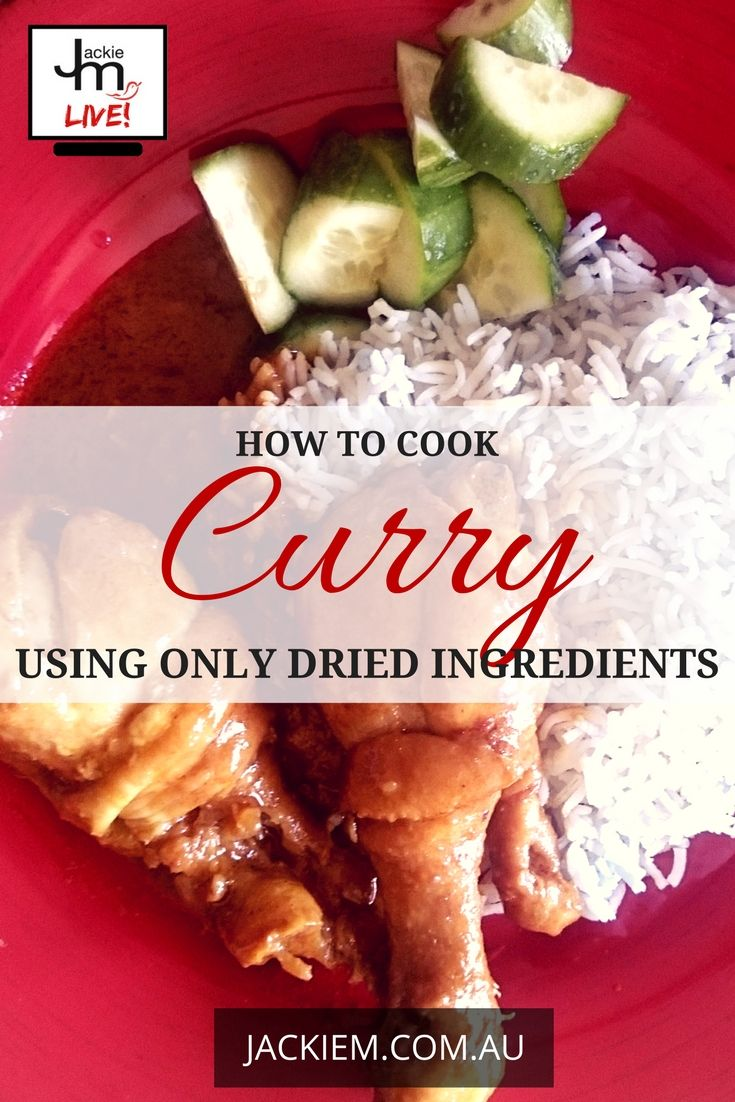 In this broadcast I showed how to shop for and use dried ingredients for curry recipes.