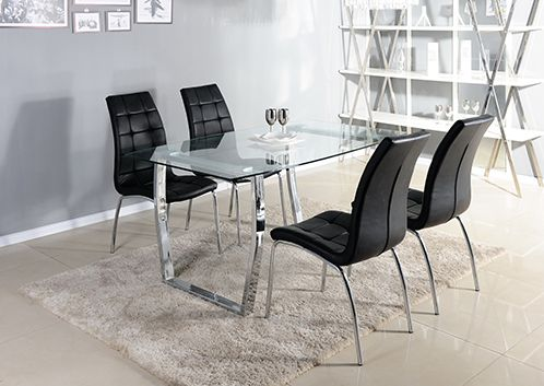 Farina, modern, dining table, glass table, glass dining set, modern dining set, modern dining table, contemporary dining table, contemporary dining set