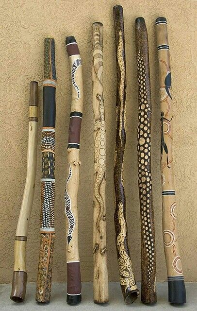Wooden totem sticks