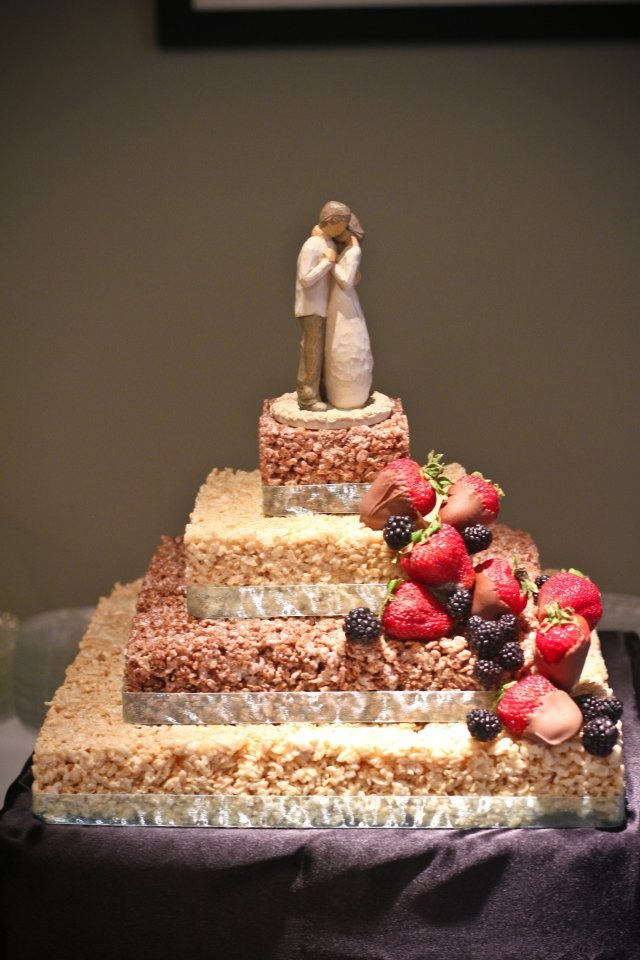 My rice krispie wedding cake that my mom made me ...