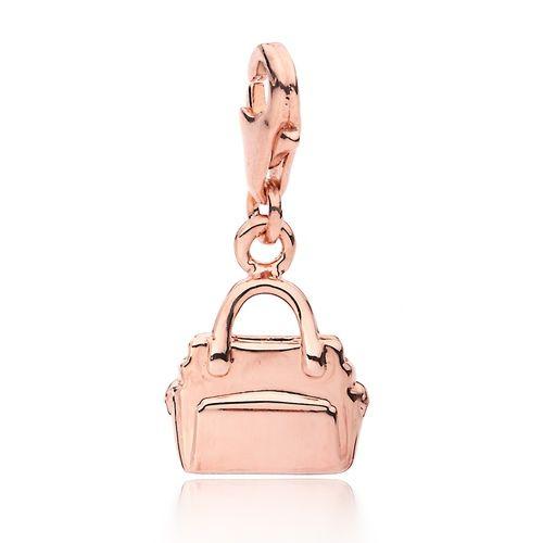 Handbag Charm Rose Gold Plated