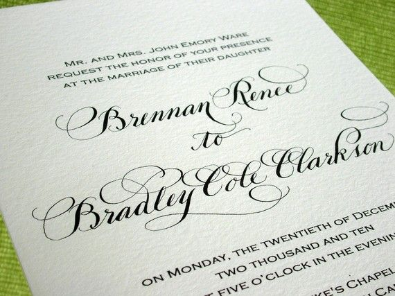7 best images about Wedding Invitations on Pinterest Traditional - best of formal invitation salutations