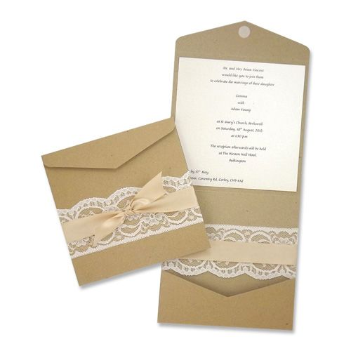 Design your own rustic / shabby chic invites and matching stationery