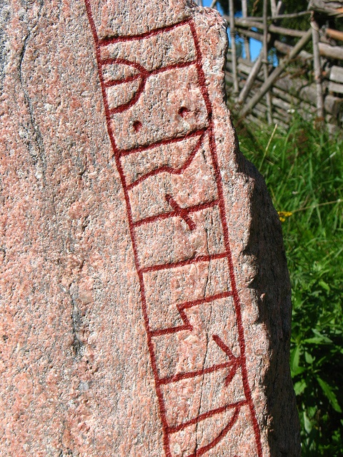 Runestone from Torekällberget outdoor museum, Södertälje, Sweden.