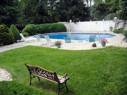 Inground Pool Patio Designs inground pool patio ideas in ground pool featuring a vinyl liner hardscape fencing concrete patio and North Jersey Custom Inground Pool Company Concrete Pool Designs And Pool Landscaping Ideas Green Outlook