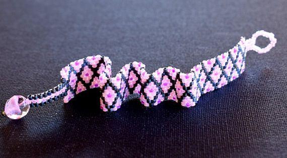 Handmade item.Beaded bracelet.Stitch Peyote.Friendship