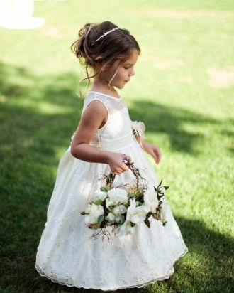 """See the """"Cute Courier"""" in our The Best-Dressed Flower Girls From Real Weddings  gallery"""