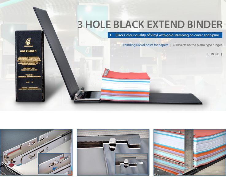 petronas folder,balck binder,3 ring folder,ladder post binder,largest capacity catalog