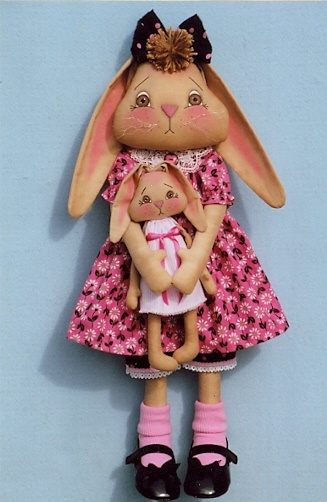 cloth doll bunny pattern | Check out small doll.