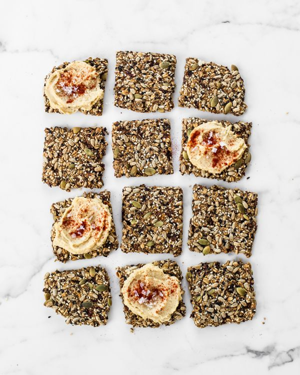 These Super-Seed Crackers from Angela Liddon's Oh She Glows Every Day are packed with healthy fats, protein and fiber. They're perfect for snacking!