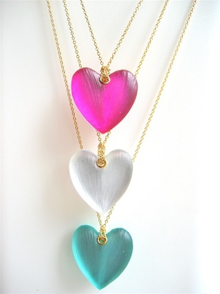 alexis bittar heart necklace. I want one of these, so cute!