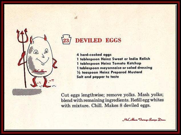 vintage deviled eggs recipe
