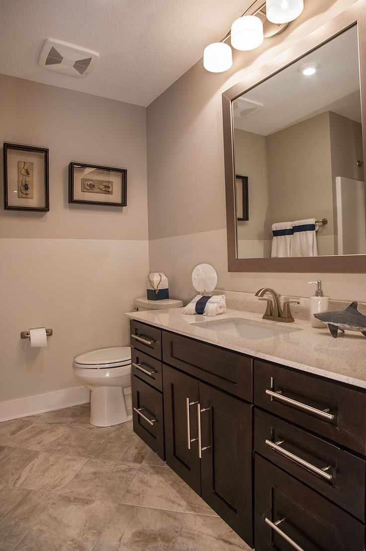 Full Bath With Dark Wood Cabinets The Belleville Floor Plan Drees Homes Cleveland Cleveland