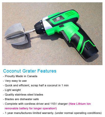 Thayabi Coconut Grater drill attachment
