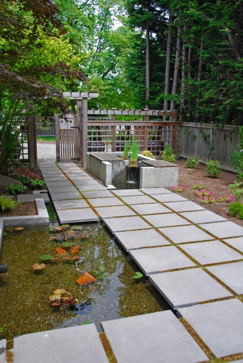 17 best images about paths paving steppers on for Contemporary koi pond design