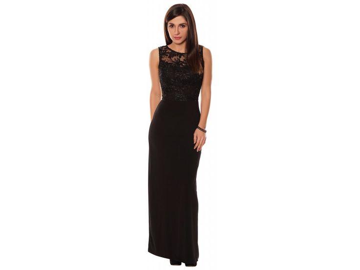 Dámské dlouhé šaty MAISY BLACK .