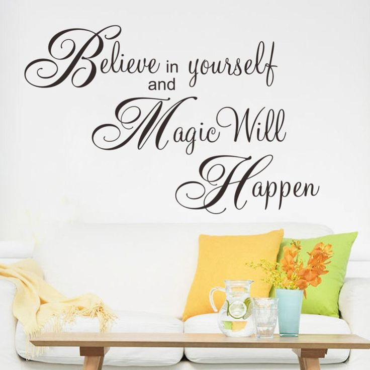 Best Quality Magic Will Happen Inspiration Quote Wall Sticker Decal Home  Decor Wallpaper Wall Mural Believe Part 97