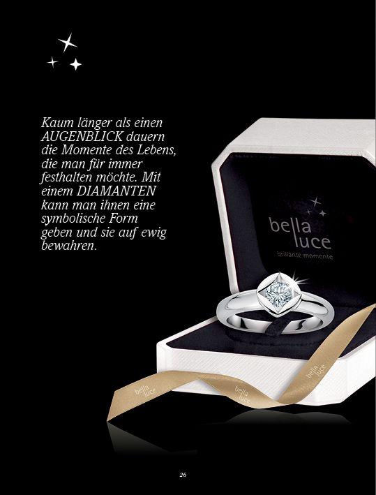 Ein schöner Diamantring sagt mehr als 1000 Worte. Verschenken Sie Diamantschmuck zu Weihnachten und machen Sie Ihrer Liebsten eine Freude. Auf www.bellaluce.de finden Sie eine große Auswahl an edlem Diamantschmuck. #diamantschmuck #geschenk #weihnachten