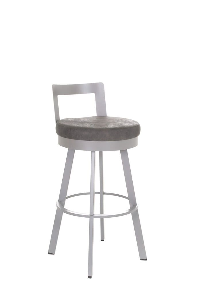 Built to last for decades, the Blake stool by Amisco is destined to make a stand in your modern home. Its short, curve back creates an inviting seat. The plush deep seat adds just the right comfort. Shop this stool and more at BarstoolComforts.com -- your online source for the most comfortable bar stools.