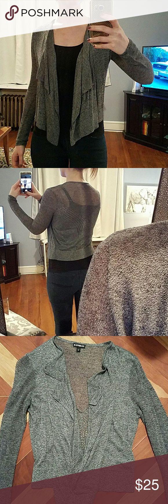 Express Gray Knit Cardigan Express gray knit cardigan. Worn once, no wear.  Has