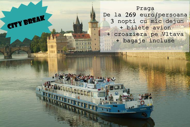 O vacanta pe care nu o puteti refuza! Un City Break in Praga cu o oferta accesibila. 269 Euro/ Persoana 3 Nopti cu mic dejul Bilete de avion + bagaje incluse Croaziera pe Vltava #FreshTravel #Praga #CityBreak #Vltava