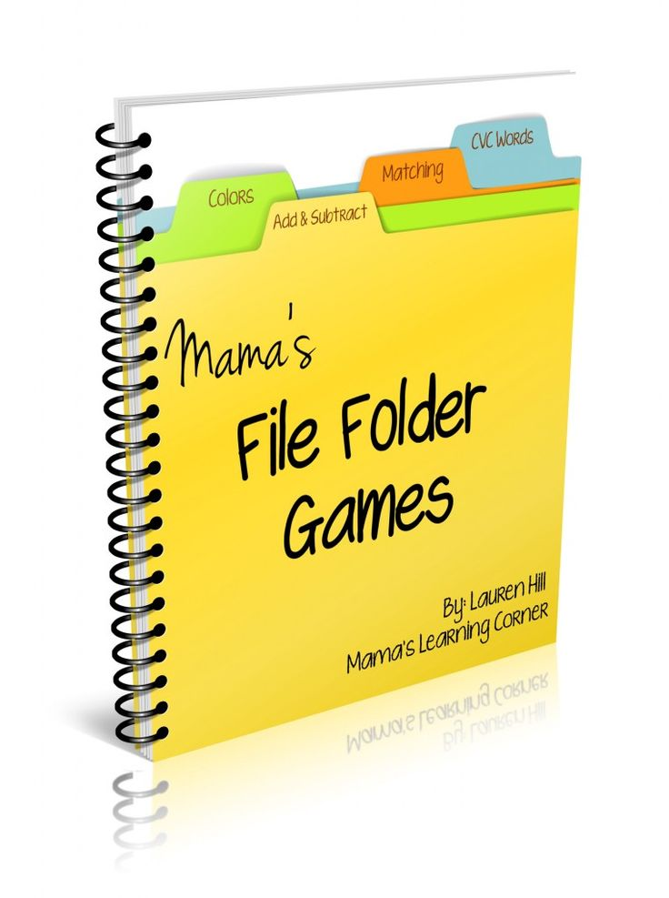 File Folder Games Ebook. Cute stuff for preschool through 2nd grade! :-)