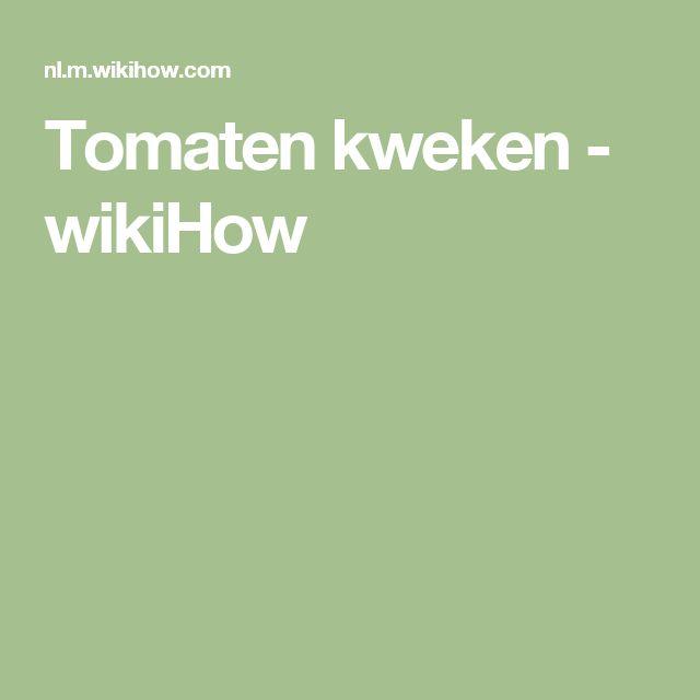 Tomaten kweken - wikiHow
