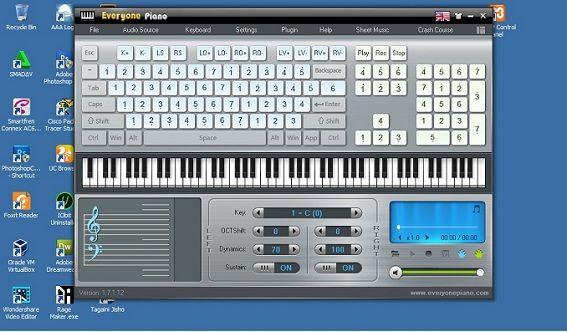 Software Simulator Piano Terbaik - Everyone Piano