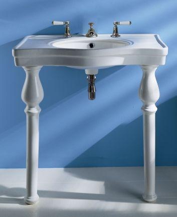 Alexis 850 3-taphole console basin on ceramic legs ...