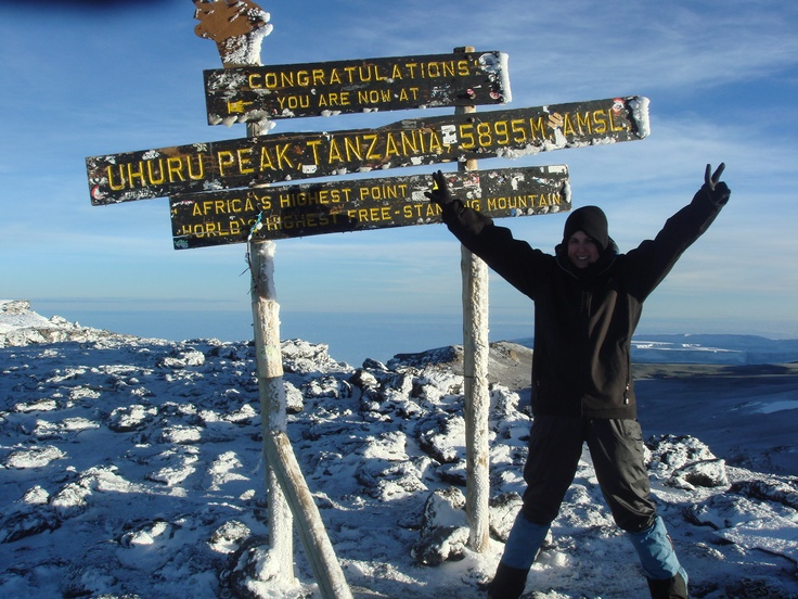 Kilimanjaro. This will be me in less than a month!