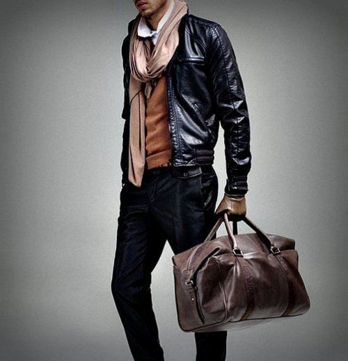 all things leather: Menfashion, Men Style, Scarfs Ideas, Men Outfits, Men Fashion, Looks Books, Fashion Blog, Leather Jackets, Travel Style
