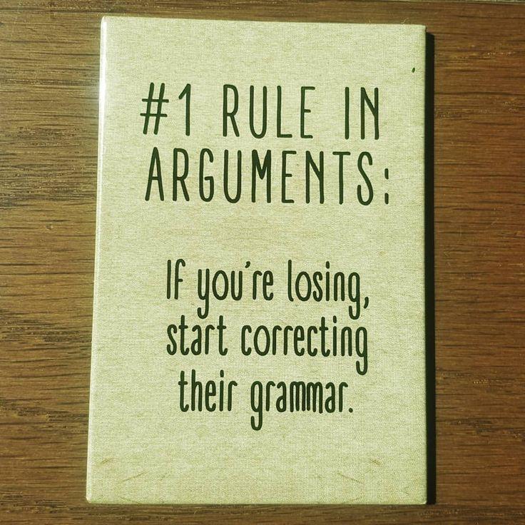 """Funny grammar Best Online Grammar Checker (@bestgrammarchecker) on Instagram: """"Hahahahaha...Always! . . . . . #notestoself #mondaymotivation #grammar #quotes #fridgemagnet…"""""""
