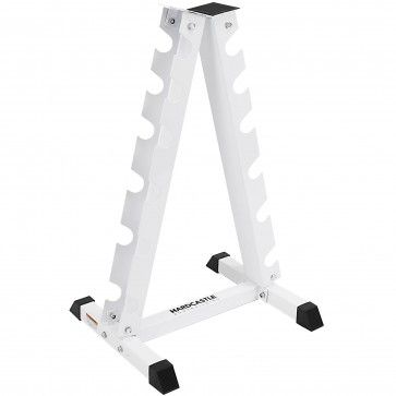 vertical dumbbell rack  white  hardcastle bodybuilding