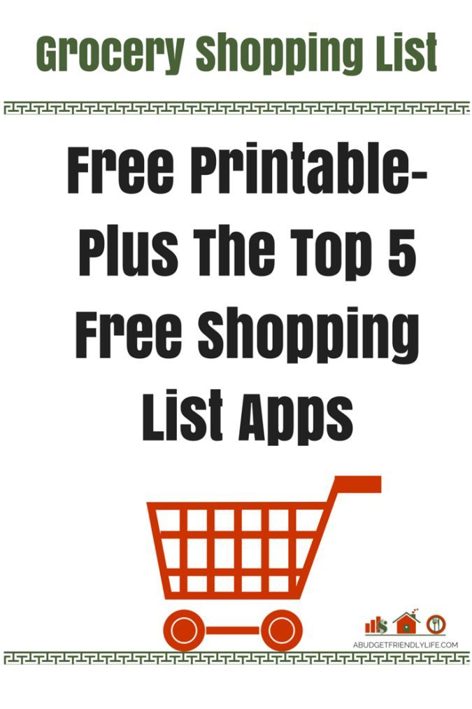 25+ unique Printable shopping list ideas on Pinterest Free - shopping lists