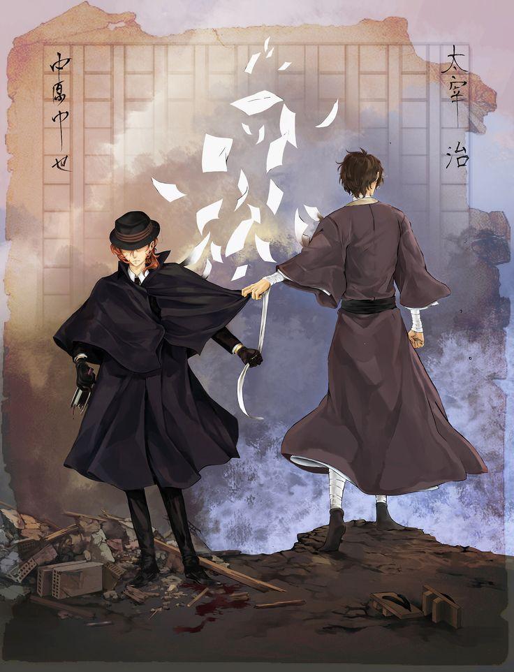 太宰治 x 中原中也  [ Inspirations from Real Life Authors ]  Soukoku week, day 6.