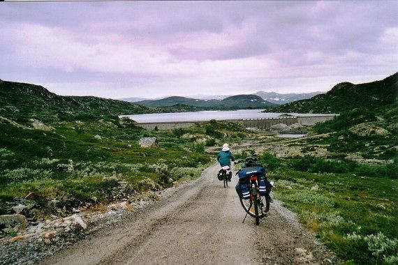 Med sykkel på Hardangervidda