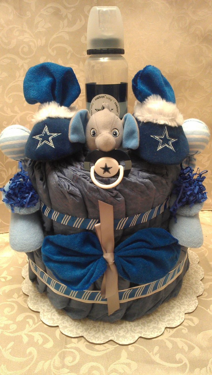 dallas cowboys baby shower clothing cake