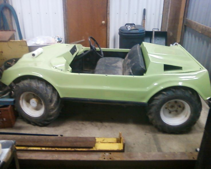 Terra Jet, Land / Water vehicle, 11 HP Honda engine, full time 4 WD, forward and reverse, high / low - in shop getting painted now, will be darker green and with black wheels runs great. like new tires.