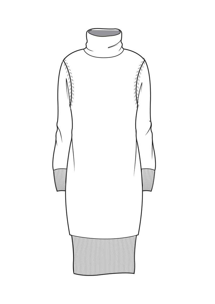Funnel neck dress                                                                                                                                                                                 More