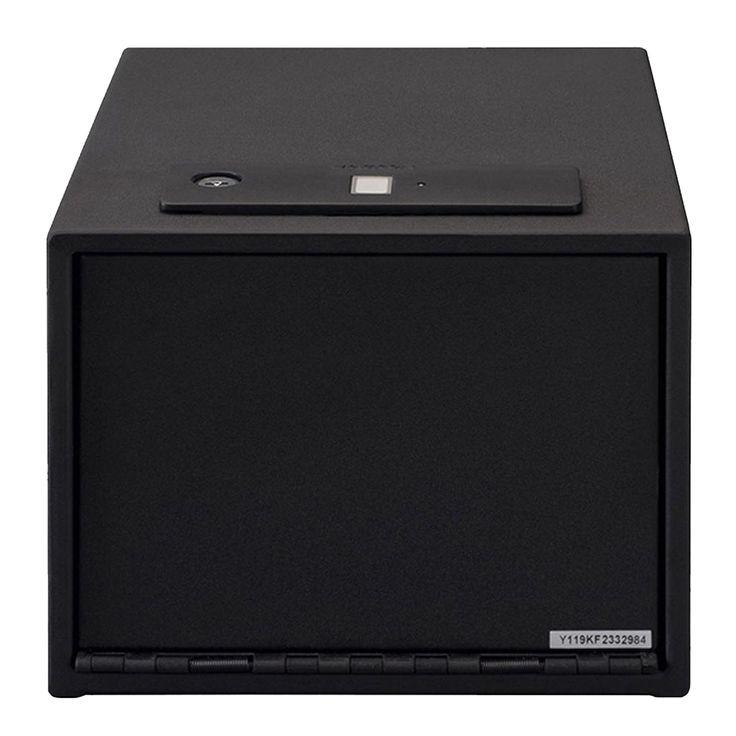 Stack-On Quick Access Safe Biometric Lock with Shelf Black - QAS-1512-B