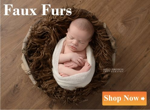 Faux Furs for newborn photography