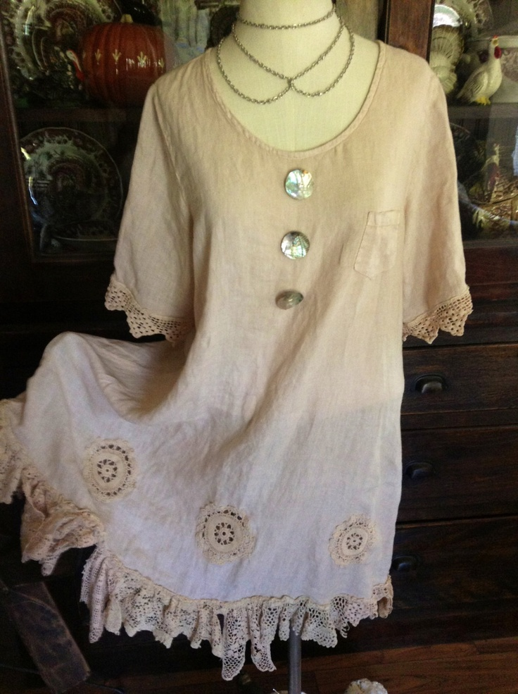 Luv Lucy Lucy's Linen and Lace Dress. $165.00, via Etsy.