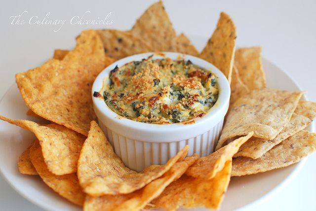 Mediterranean Spinach Artichoke Dip by The Culinary Chronicles