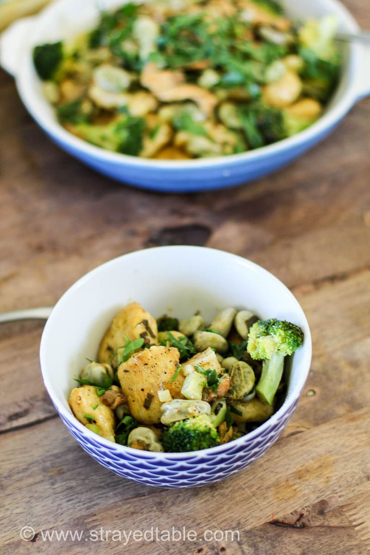 Homemade gnocchi w seasonal greens