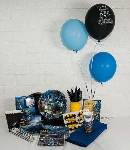Batman Party package. Great value! http://www.qualitytimepartysupplies.com.au/shop/batman/batman-party-package/