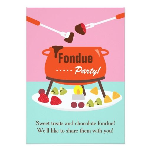 Fondue Party Invitation Wording – Fondue Party Invitations